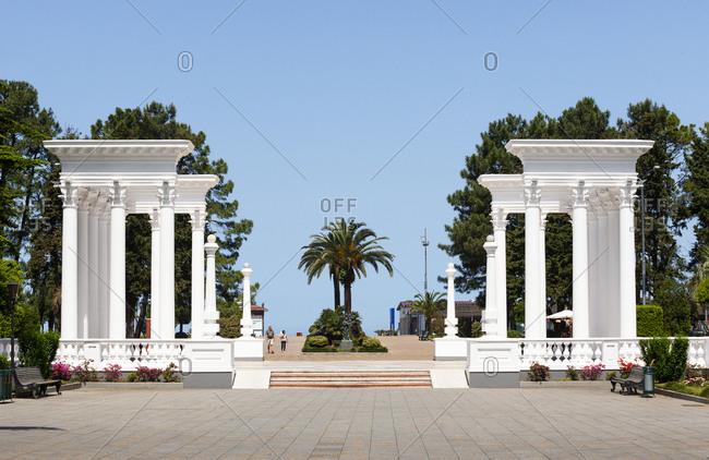 May 7, 2018: Georgia- Adjara- Batumi- Colonnades at the Seaside Park