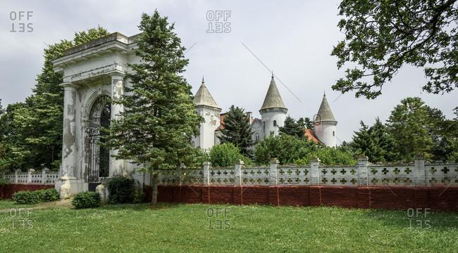 Fantast or Dundjerski Castle, famous tourist destination, near Becej town, Serbia