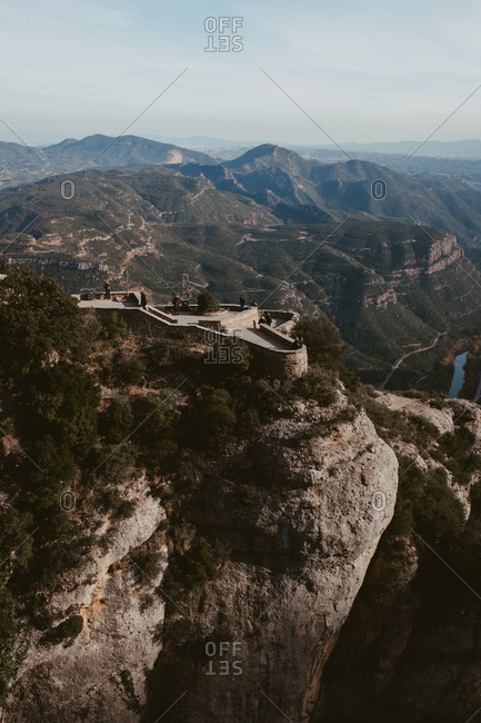 overlook at Montserrat Monastery, Bages, Barcelona, Spain