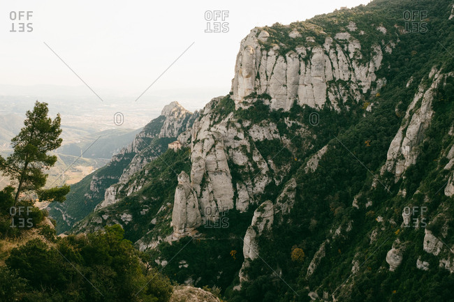 Montserrat Mountains in Barcelona, Spain
