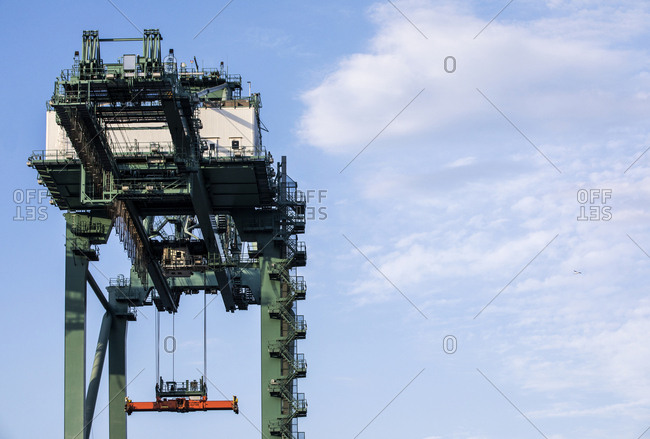 Large loading crane at industrial port