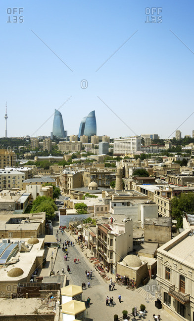The Old City or Inner City (Icarisahar), the historical core, the most ancient part of Baku, a Unesco World Heritage Site. Azerbaijan