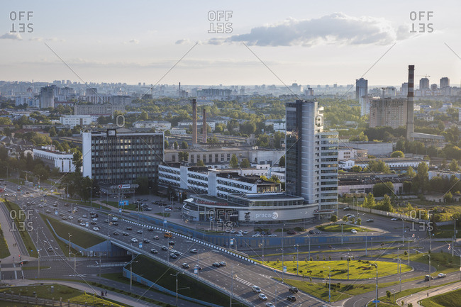 City Skyline on the outskirts of Minsk, Belarus