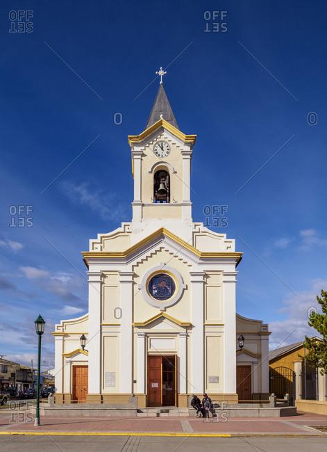 Maria Auxiliadora Church, Arturo Prat Main Square, Puerto Natales, Ultima Esperanza Province, Patagonia, Chile
