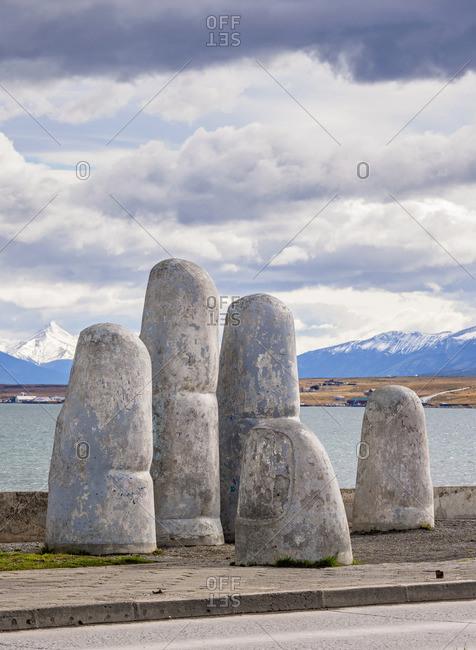 La Mano Sculpture, Puerto Natales, Ultima Esperanza Province, Patagonia, Chile
