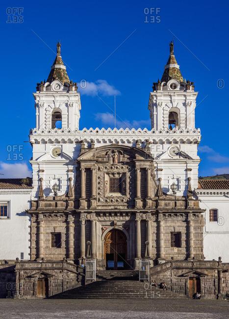 Saint Francis Church and Monastery, Plaza San Francisco, Old Town, Quito, Pichincha Province, Ecuador