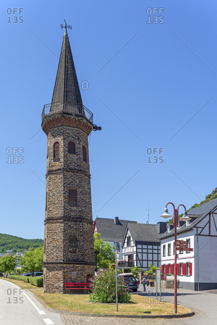 F�hrturm at Hatzenport, Mosel Valley, Rhineland-Palatinate, Germany