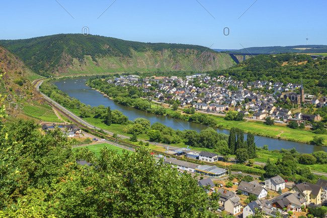 View at Dieblich, Mosel Valley, Rhineland-Palatinate, Germany