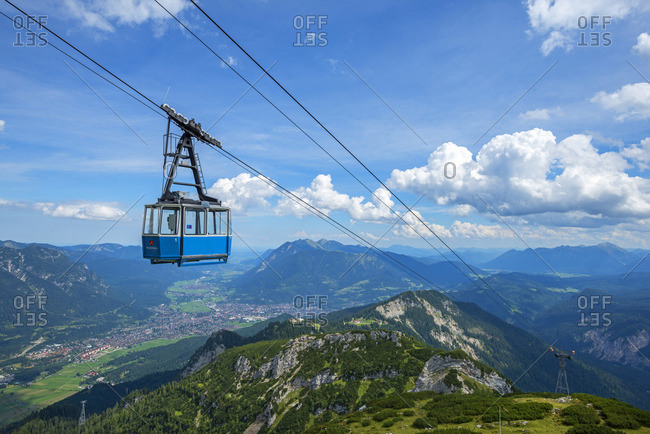 Hochalmbahn cable car, Garmisch-Partenkirchen, Bavaria, Germany