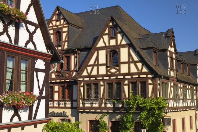 Half-timbered buildings, Oberwesel, Rhineland-Palatinate, Germany