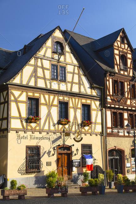 Hotel Romerkrug in Market Square, Oberwesel, Rhineland-Palatinate, Germany