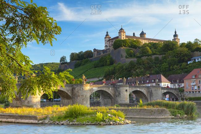 Marienberg Fortress and Old Main Bridge, Wurzburg, Bavaria, Germany