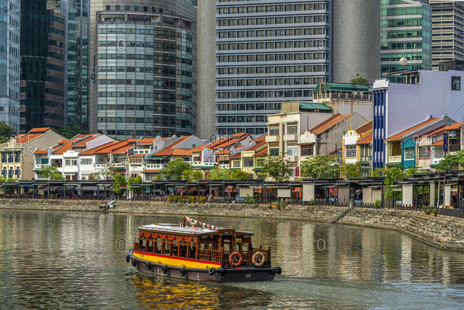 Singapore River and city skyline, Singapore