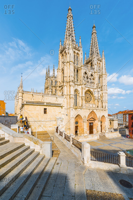 Spain, Castile and Leon, Burgos. The gothic Cathedral of Saint Mary of Burgos.