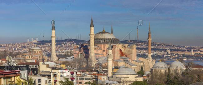 Cityscape with Hagia Sophia, Ayasofya, Istanbul, Turkey