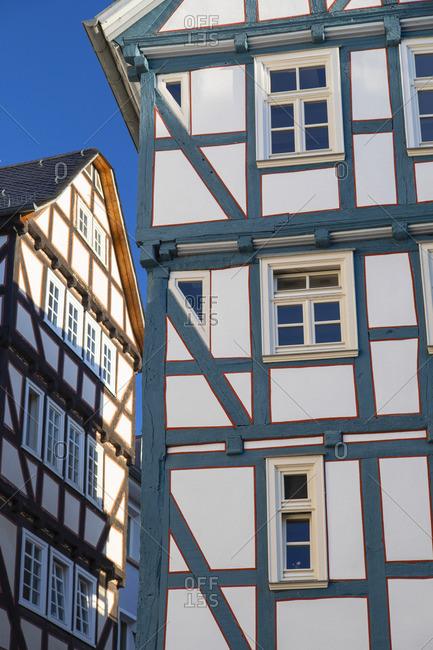 Half-timbered building, Marburg, Hesse, Germany
