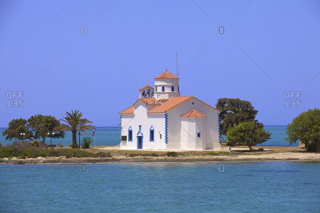 Agios Spyridon Church, Elafonisos Island, Laconia, The Peloponnese, Greece, Southern Europe