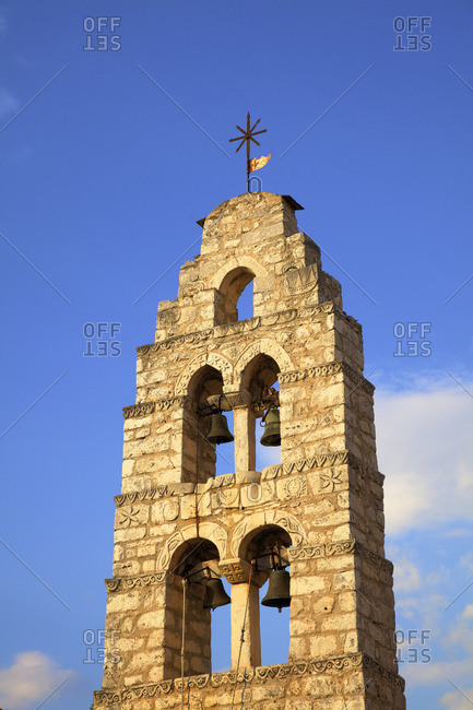 Bell Tower, Areopoli, Mani Peninsula, The Peloponnese, Greece, Southern Europe