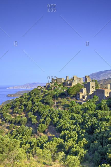 Towered Village of Vathia, Mani Peninsula, The Peloponnese, Greece, Southern Europe
