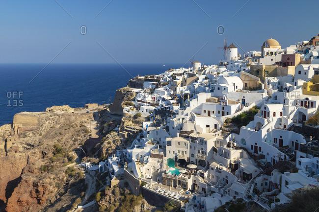 Greece, Cyclades islands, Santorini (Thira), Ia (Oia) and Santorini Caldera