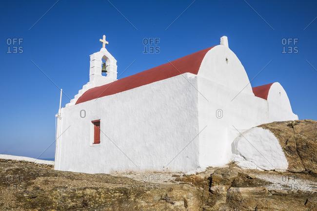 Greek orthodox chapel, Chora (Mykonos Town), Mykonos, Cyclades Islands, Greece