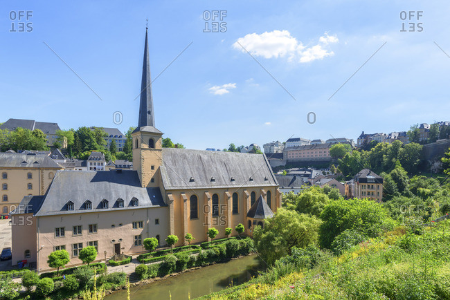 Neum�nster abbey at Grund, Luxembourg