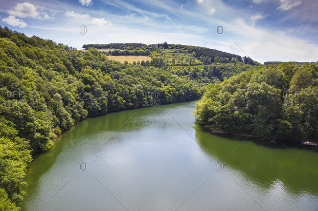 Luxembourg, Upper Sure nature park, Lultzhausen, Sure river