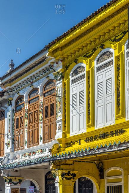 Historical colonial building, Jonker Street, Malacca City, Malaysia