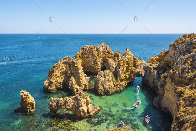 Portugal, Algarve, Faro district, Lagos, Ponta Da Piedade.