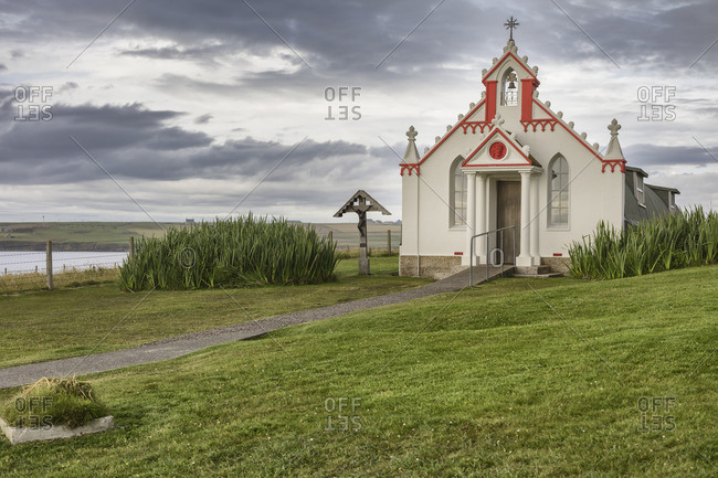 Italian Chapel (Queen of Peace Chapel), Lamb Holm, Mainland, Orkney islands, Scotland, UK
