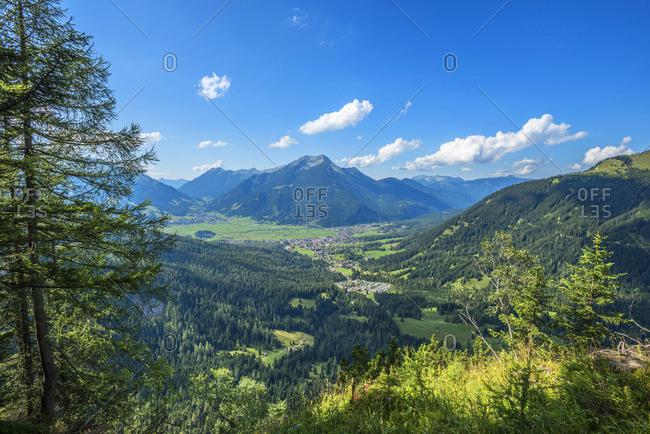 View at Ehrwald with Daniel mountain, Tyrol, Austria