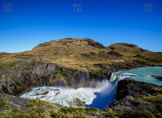 Salto Grande, waterfall, Torres del Paine National Park, Patagonia, Chile