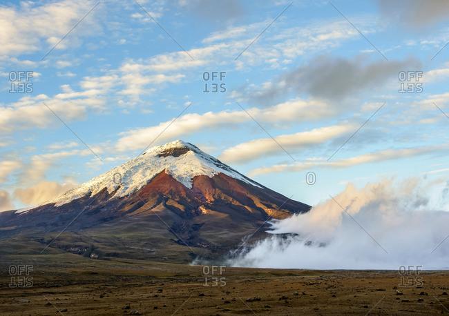 Cotopaxi Volcano at sunrise, Cotopaxi National Park, Cotopaxi Province, Ecuador