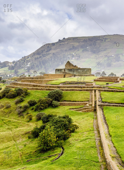 Temple of the Sun, Ingapirca Ruins, Ingapirca, Canar Province, Ecuador