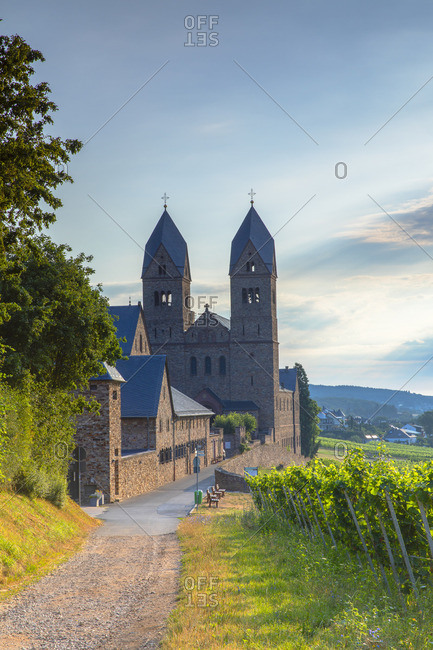 St Hildegard Abbey and vineyards, Rudesheim, Rhineland-Palatinate, Germany