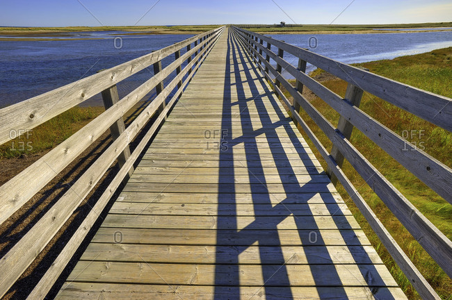 Wooden bridge in New Brunswick, Canada