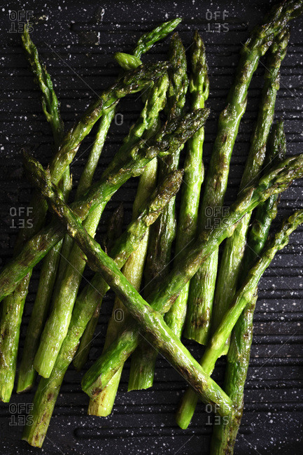 Chargrilled asparagus spears. - Offset Collection