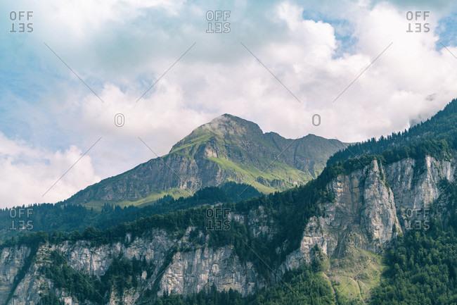 Mountainous Bernese Oberland region of central Switzerland close to Interlaken, Central Switzerland, Bern, Switzerland