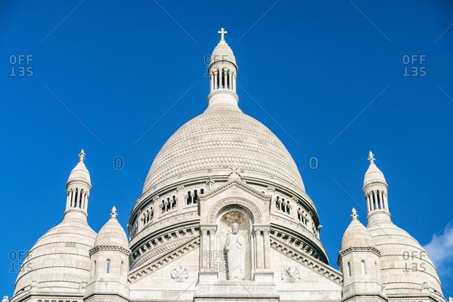Exterior of Basilica of the Sacred Heart of Paris, Montmartre, Paris, France