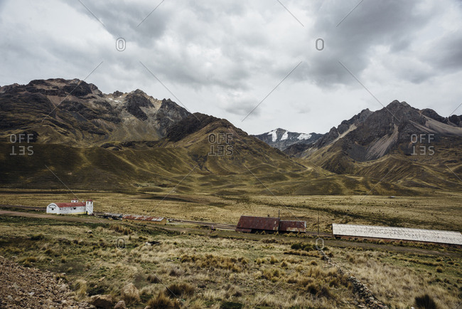 Rural landscape in the Andes Mountains
