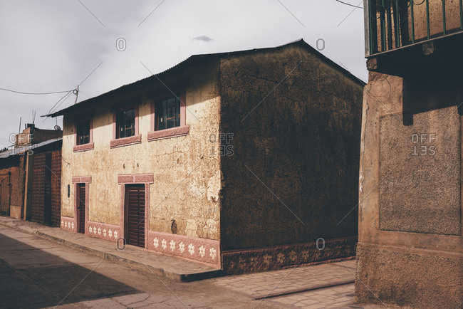 Old buildings in a Peruvian town