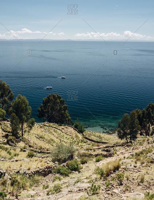 View over Lake Titicaca, Peru
