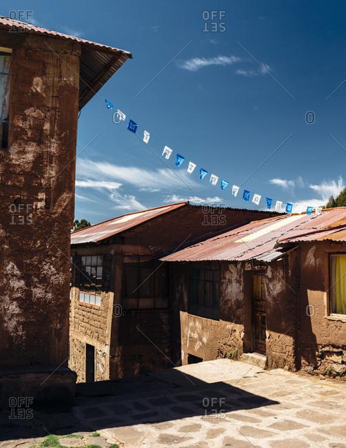 Buildings in a Peruvian town