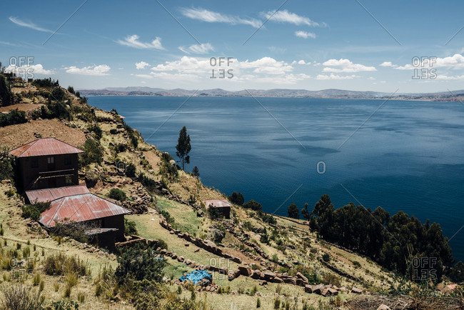 Hillside home by Lake Titicaca, Peru