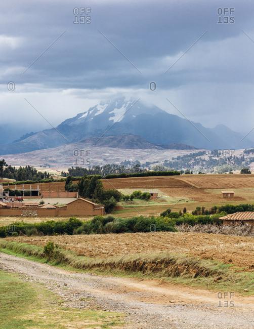 Hillside farm near in the Sacred Valley, Peru