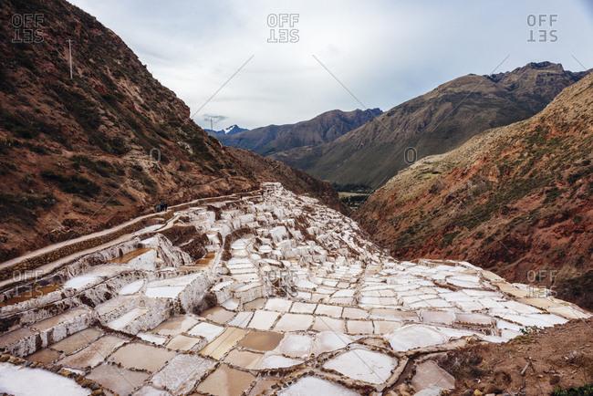 Inca salt ponds, Sacred Valley in Peru
