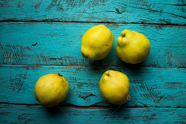 Overhead view of quinces - Offset