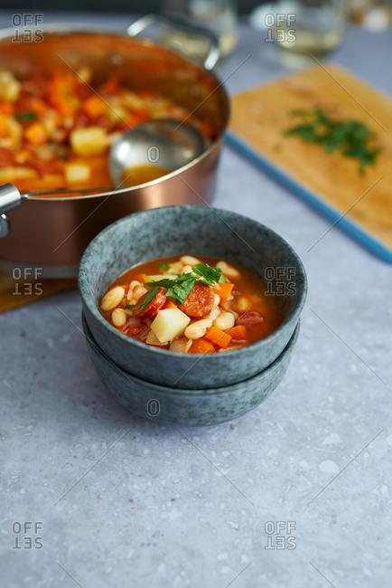 Homemade white bean soup - Offset