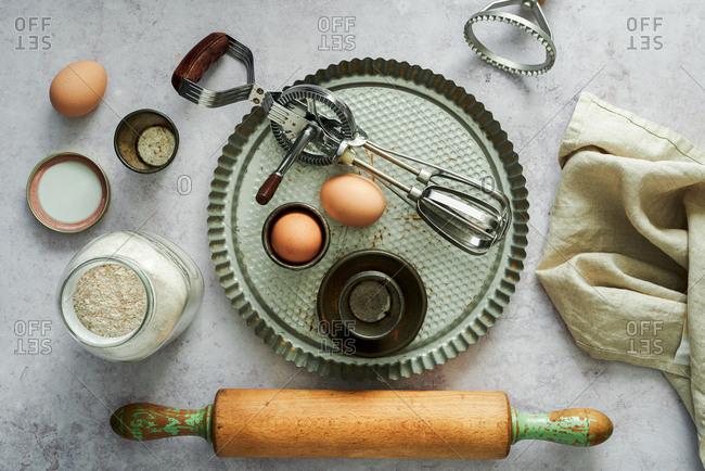 Vintage baking equipment