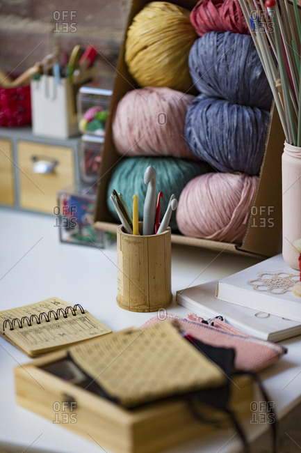 Crochet and knitting supplies